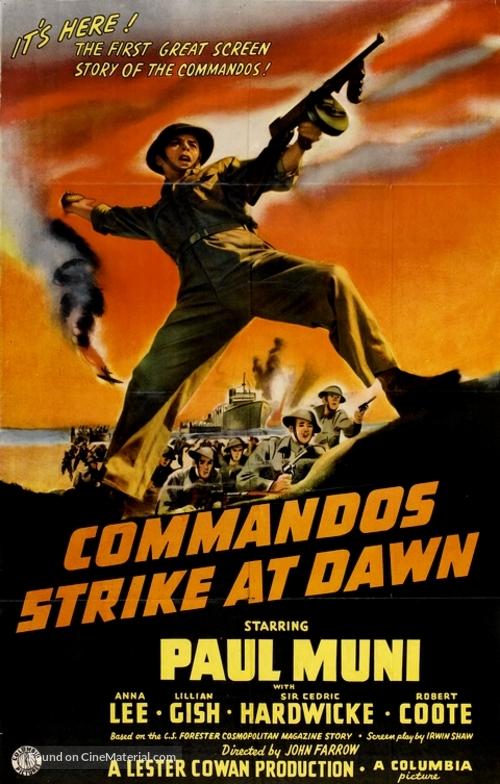 Commandos Strike at Dawn - Movie Poster