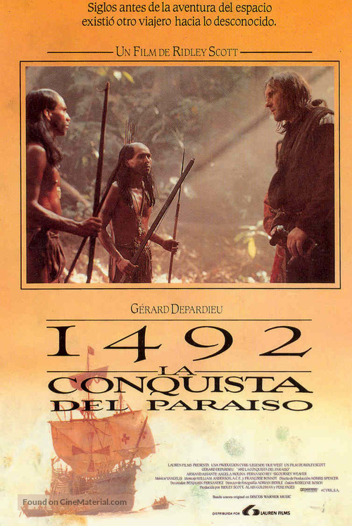 1492: Conquest of Paradise - Spanish Movie Poster
