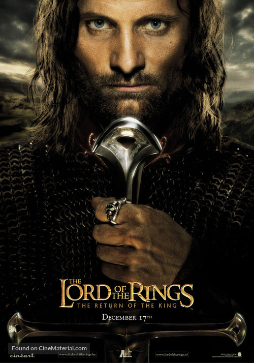 The Lord of the Rings: The Return of the King - Belgian Movie Poster