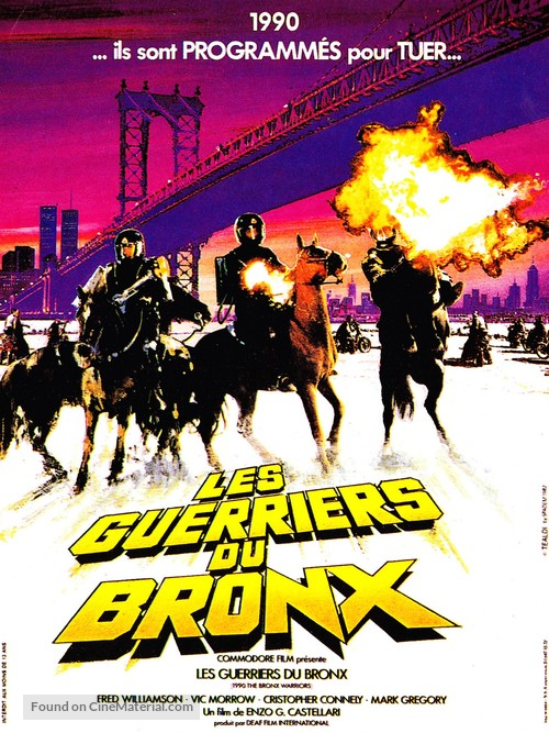 1990: I guerrieri del Bronx - French Movie Poster