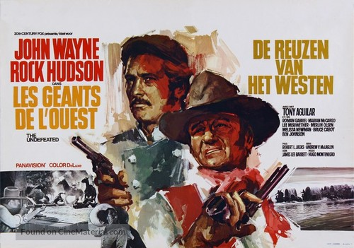 The Undefeated - Belgian Movie Poster
