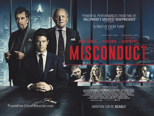 Misconduct - British Movie Poster