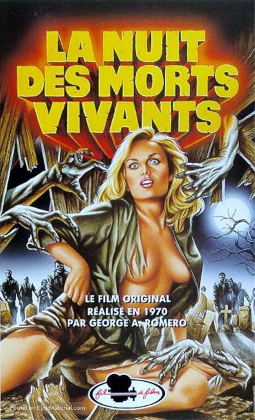Night of the Living Dead - French VHS movie cover