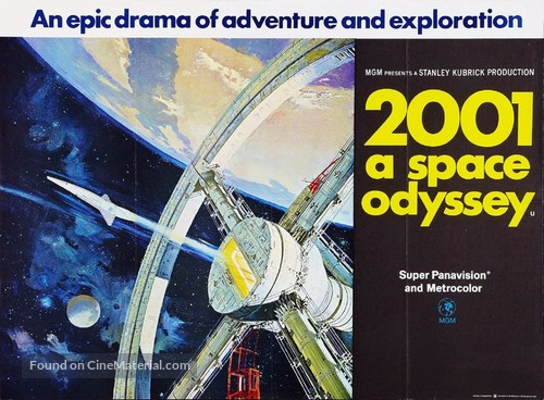 2001: A Space Odyssey - British Movie Poster
