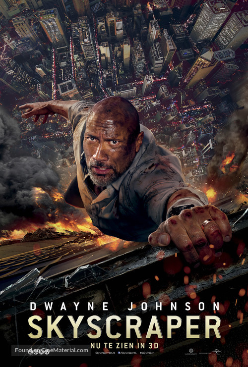 Skyscraper - Dutch Movie Poster