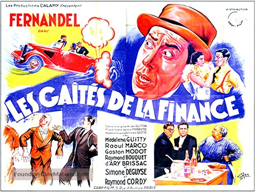 Les gaîtés de la finance - French Movie Poster