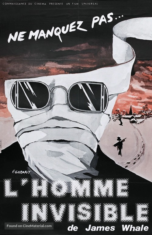 The Invisible Man - French Re-release poster