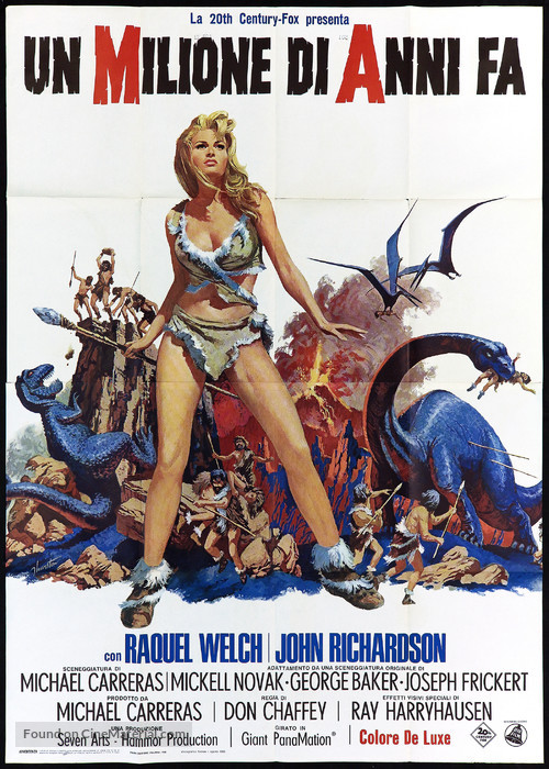 One Million Years B.C. - Italian Movie Poster