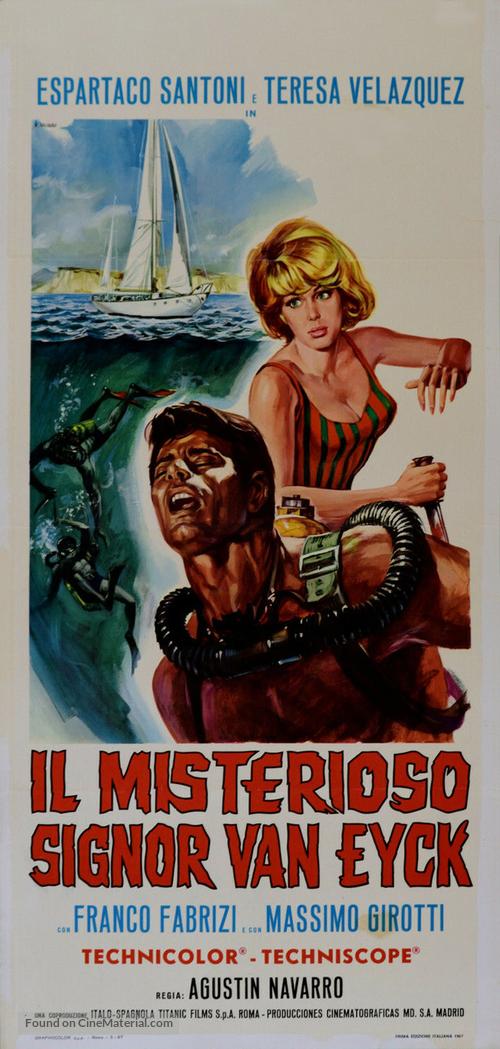 El misterioso señor Van Eyck - Italian Movie Poster