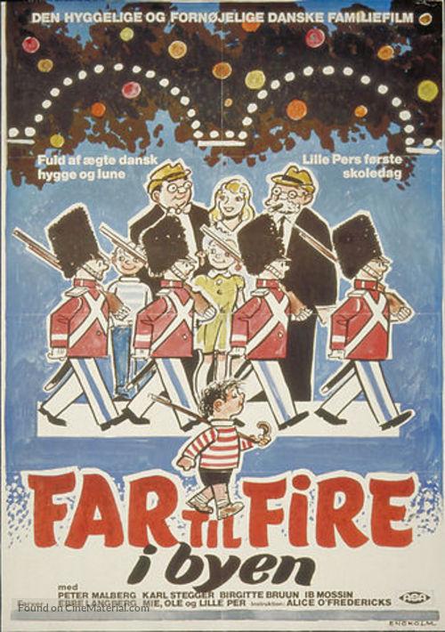 Far til fire i byen - Danish Movie Poster