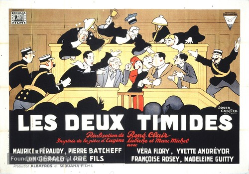 Les deux timides - French Movie Poster
