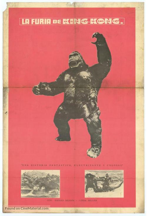 Kingu Kongu no gyakushû - Mexican Movie Poster