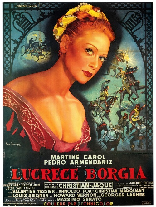 Lucrèce Borgia - French Movie Poster