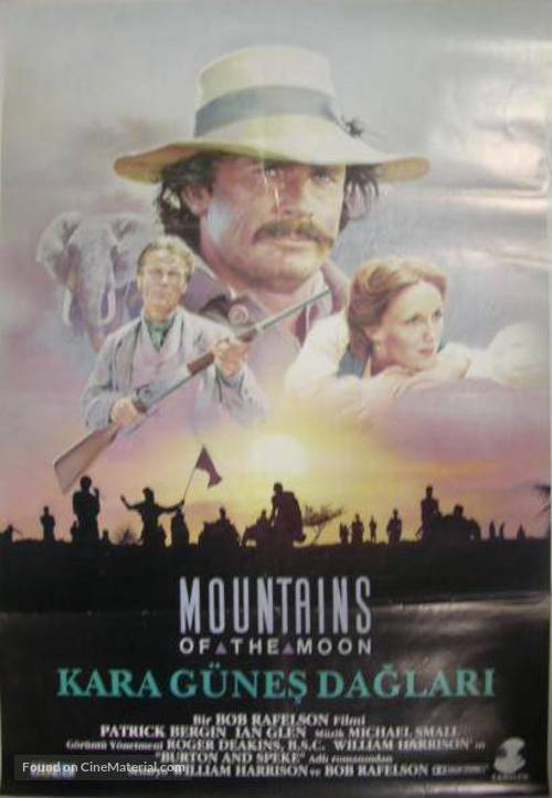 mountains of the moon turkish movie poster. Black Bedroom Furniture Sets. Home Design Ideas