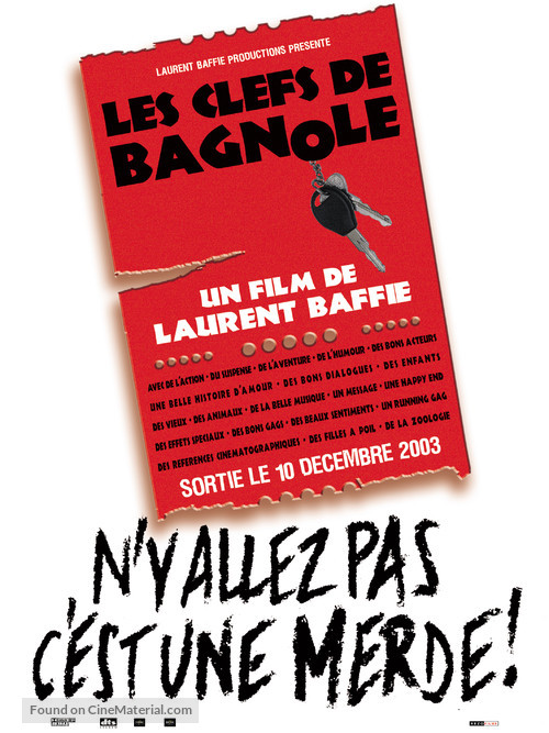 Clefs de bagnole, Les - French Movie Poster