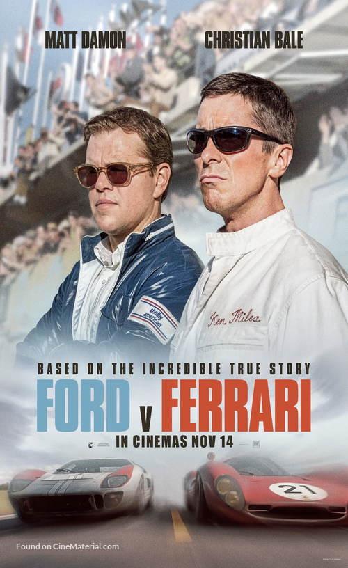Ford v. Ferrari - Singaporean Movie Poster
