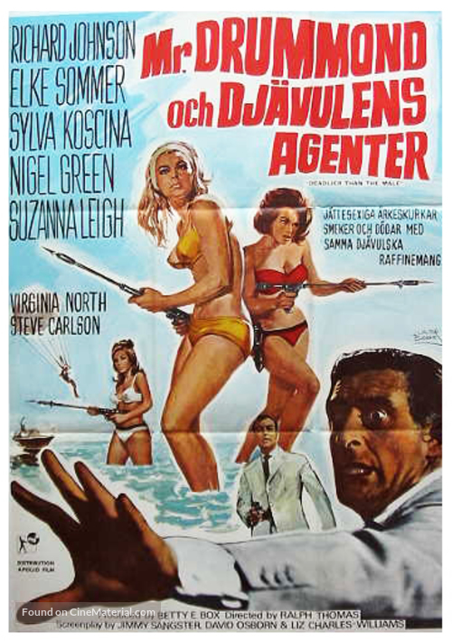 Deadlier Than the Male - Swedish Movie Poster