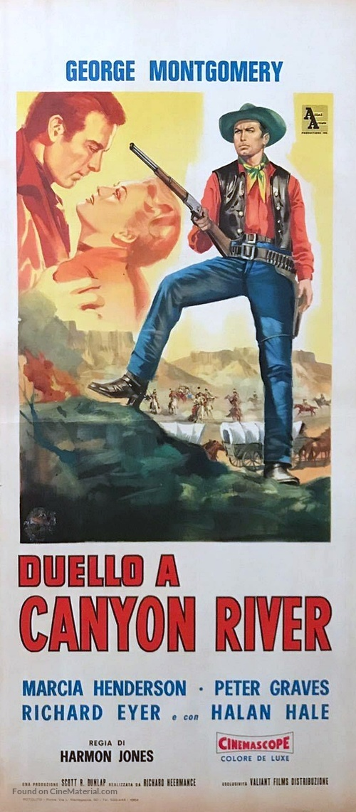 Canyon River - Italian Movie Poster