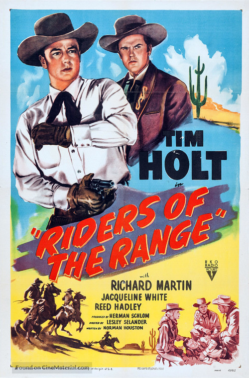 Riders of the Range - Movie Poster