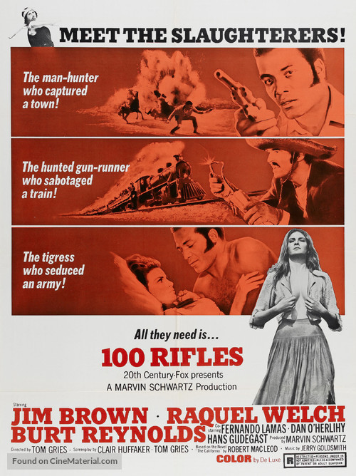 100 Rifles - Movie Poster