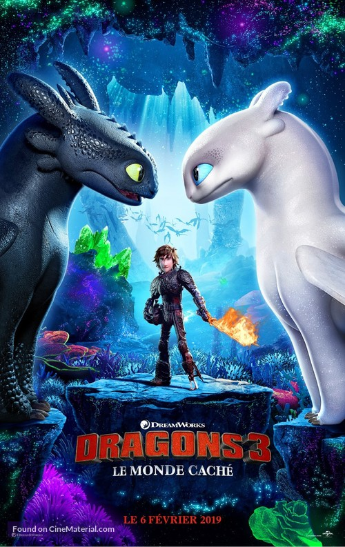 How to Train Your Dragon: The Hidden World - French Movie Poster
