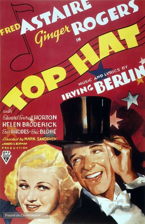 Top Hat - Theatrical movie poster