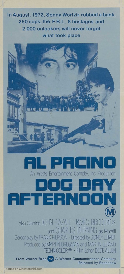 Dog Day Afternoon - Australian Movie Poster