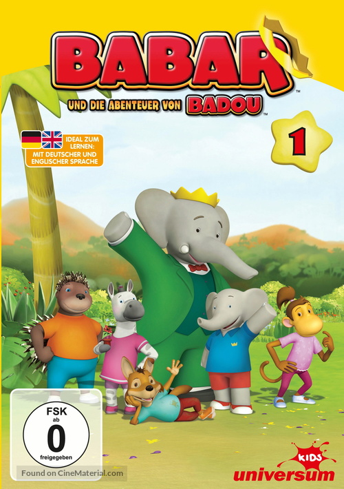 """""""Babar and the Adventures of Badou"""" - German DVD movie cover"""