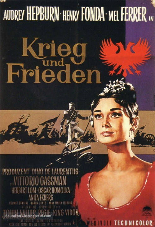 War and Peace - German Movie Poster
