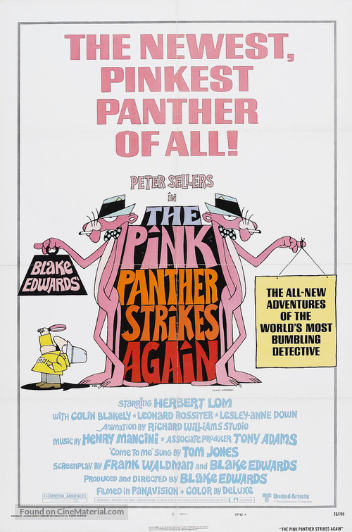The Pink Panther Strikes Again - Movie Poster