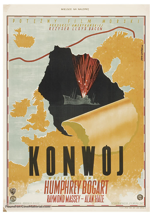 Action in the North Atlantic - Polish Movie Poster