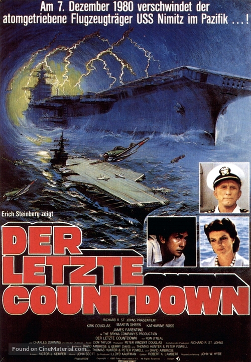 The Final Countdown - German Movie Poster