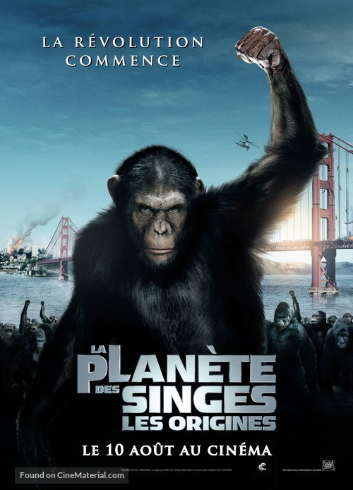 Rise of the Planet of the Apes - French Movie Poster