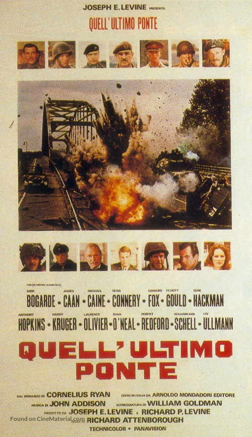 A Bridge Too Far - Italian Movie Poster