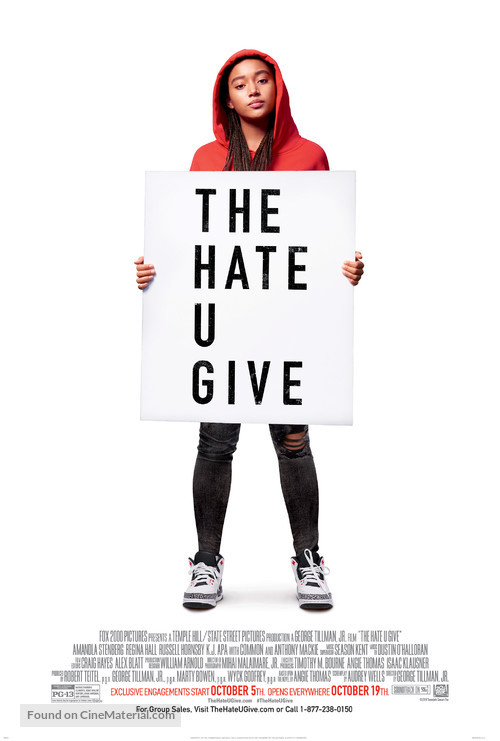 The Hate U Give - Movie Poster
