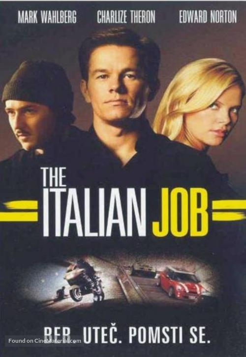The Italian Job - Czech Movie Cover