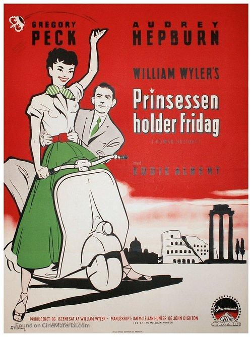 Roman Holiday - Danish Movie Poster