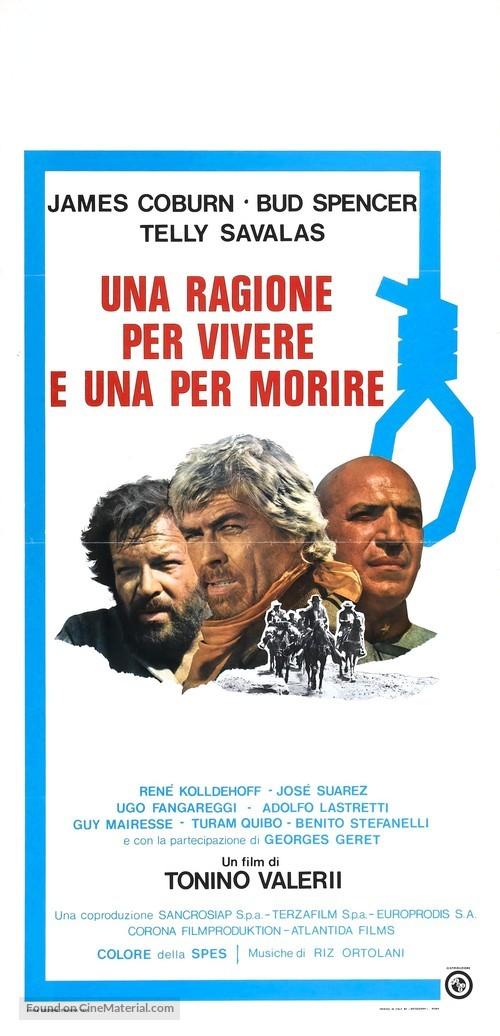 Una ragione per vivere e una per morire - Italian Movie Poster
