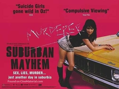 Suburban Mayhem - British Movie Poster