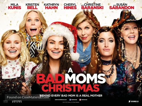 A Bad Moms Christmas Movie Poster.A Bad Moms Christmas 2017 British Movie Poster