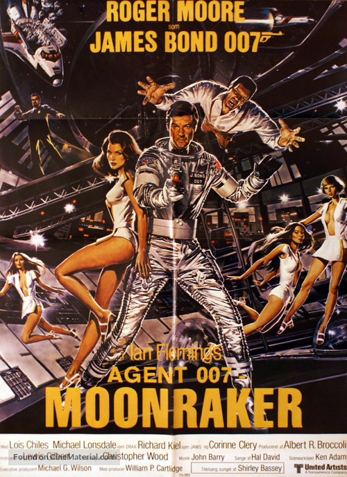 Moonraker - Danish Movie Poster