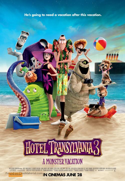 Hotel Transylvania 3: Summer Vacation - Australian Movie Poster