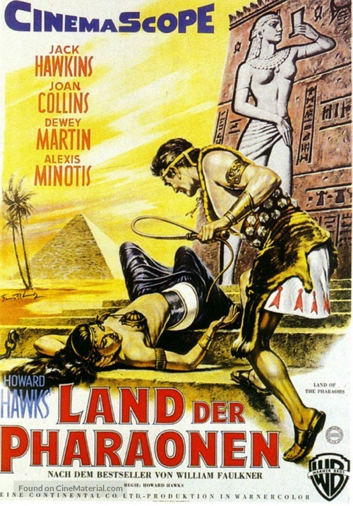 Land of the Pharaohs - German Movie Poster