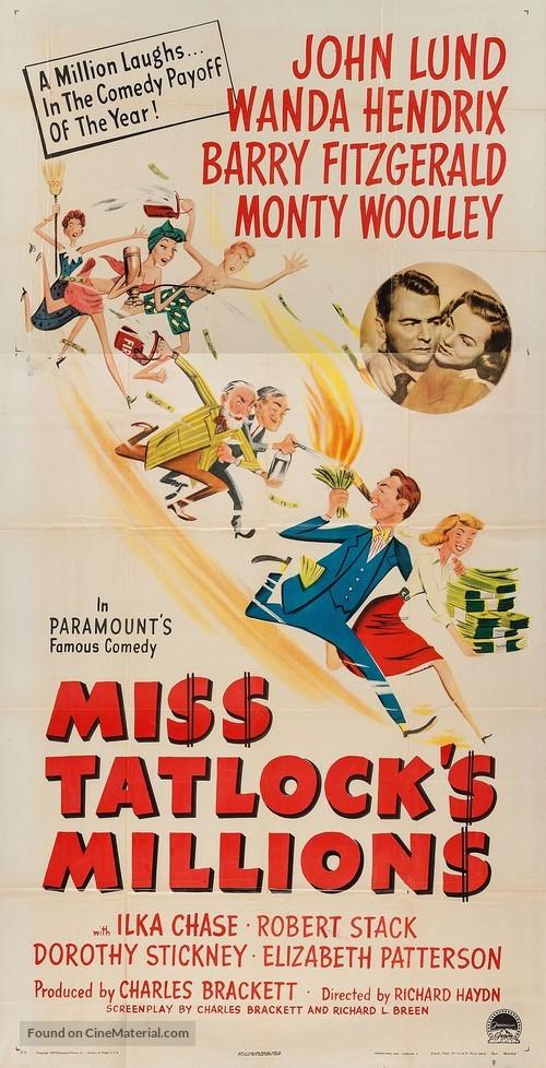 Miss Tatlock's Millions - Movie Poster