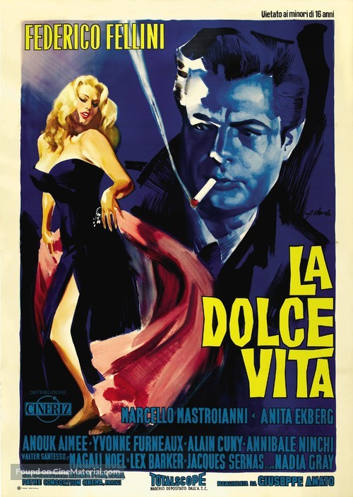 La dolce vita - Italian Movie Poster