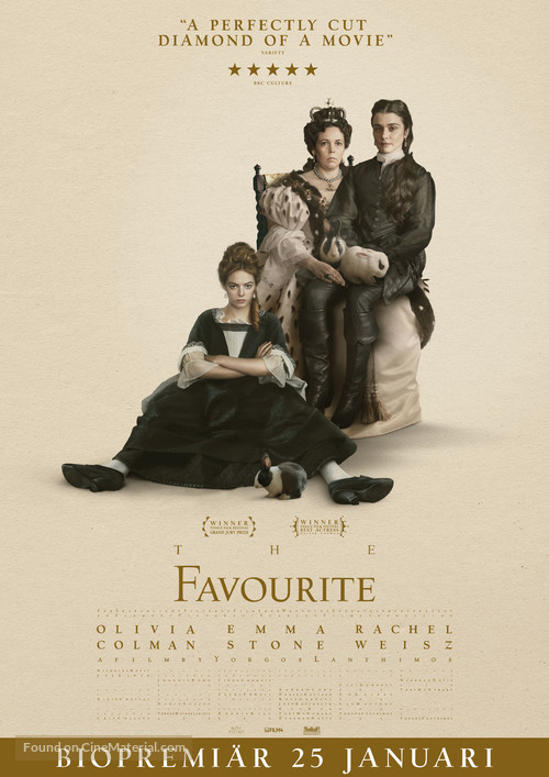 The Favourite - Swedish Movie Poster