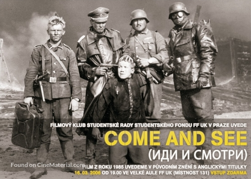 Idi i smotri - Czech Movie Poster
