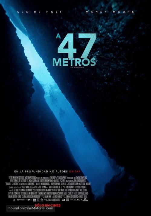 47 Meters Down - Chilean Movie Poster
