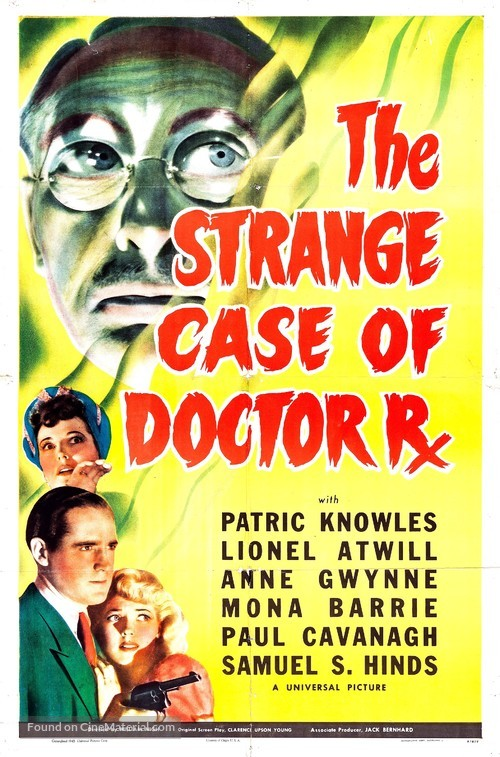 The Strange Case of Doctor Rx - Movie Poster