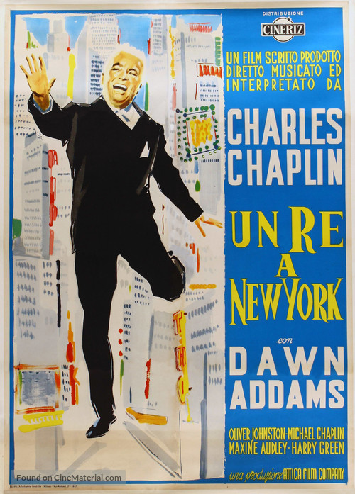 A King in New York - Italian Movie Poster